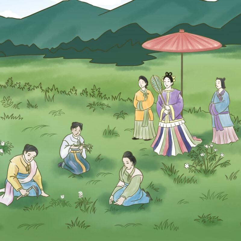 推古天皇の薬狩り(イメージ)